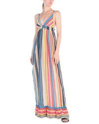 Robe longue Pinko en coloris Blue