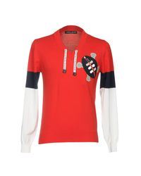 Frankie Morello - Red Jumper for Men - Lyst