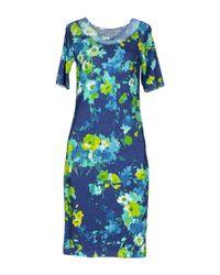 Angelo Marani Blue Knee-length Dress