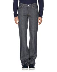 7 For All Mankind Blue Denim Pants for men