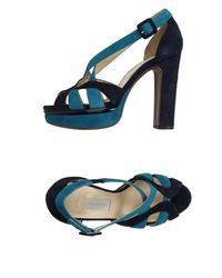 L'Autre Chose Blue Sandals