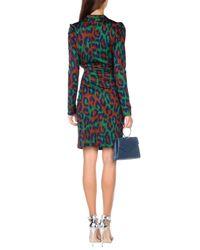 Diane von Furstenberg Green Short Dress