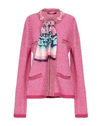 Cardigan di Tabaroni Cashmere in Pink