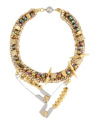 Assad Mounser - Metallic Necklace - Lyst
