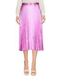 Vero Moda Purple 3/4 Length Skirt