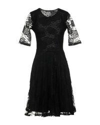 Robe courte Brigitte Bardot en coloris Black