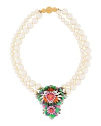 Shourouk - Green Necklace - Lyst