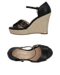 Gattinoni Black Sandale