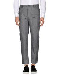 Brunello Cucinelli Gray Casual Trouser for men