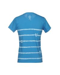 Tee Library Blue T-shirt for men