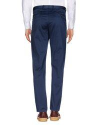 Scaglione Blue Casual Trouser for men
