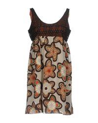 Vestito corto di Jijil in Brown