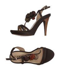 Twin Set Brown Sandals