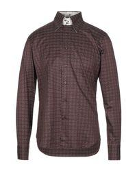 Camicia di Carlo Pignatelli in Brown da Uomo