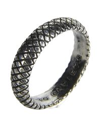 First People First Metallic Ring for men