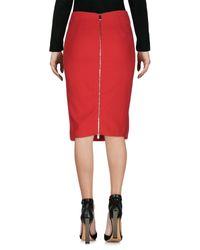 Pinko Red Knee Length Skirt