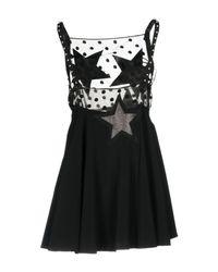 Giamba Black Short Dress