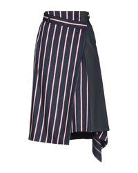 Sportmax Blue 3/4 Length Skirt