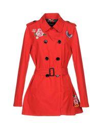Desigual Red Overcoat