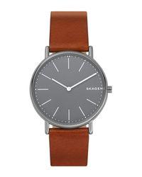 Skagen Brown Wrist Watch for men