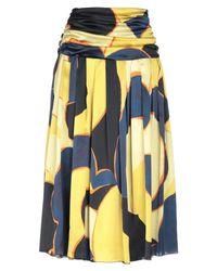 Dries Van Noten Multicolor 3/4 Length Skirt