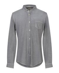 Camicia di Tintoria Mattei 954 in Gray da Uomo