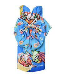 Moschino - Blue Short Dress - Lyst