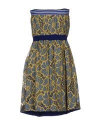 Patrizia Pepe Yellow Short Dress