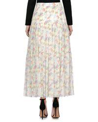 Saint Laurent White Long Skirt