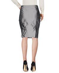Armani Gray Knee Length Skirt