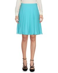 Boutique Moschino - Blue Knee Length Skirt - Lyst