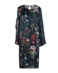 Shirtaporter - Blue Knee-length Dress - Lyst