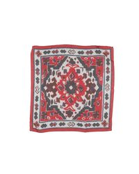 Thomas Mason Red Square Scarf for men
