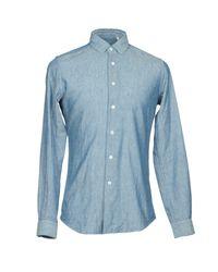 Glanshirt Blue Shirt for men