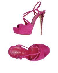 Casadei Purple Sandale