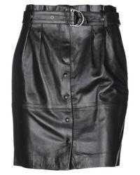 IRO Black Knee Length Skirt