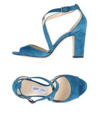 Jimmy Choo Blue Sandals