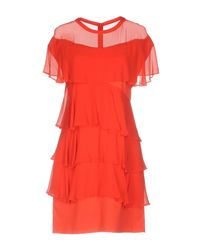 Pinko Red Short Dress
