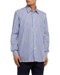 Camisa Barena de hombre de color Blue