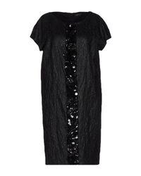 Maria Grazia Severi Black Knee-length Dress