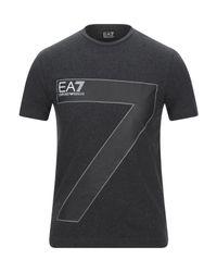 EA7 T-shirts in Black für Herren