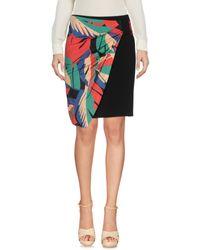 Pf Paola Frani Black Knee Length Skirt