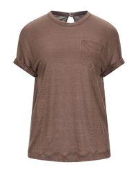 T-shirt di Brunello Cucinelli in Brown