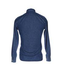 Siviglia Blue Denim Shirt for men