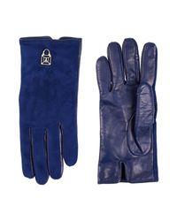 Patrizia Pepe Blue Gloves