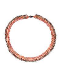 Venessa Arizaga - Orange Necklace - Lyst