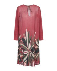 Vestido por la rodilla Siyu de color Red