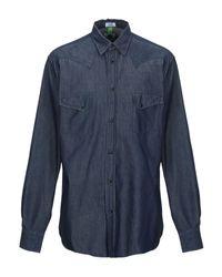 Camicia jeans di Macchia J in Blue da Uomo