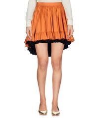 Minigonna di L'Autre Chose in Orange