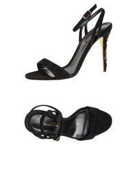 Oscar de la Renta Black Sandals